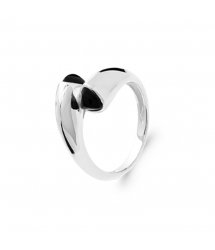 Bague Triangle Argent/Agate