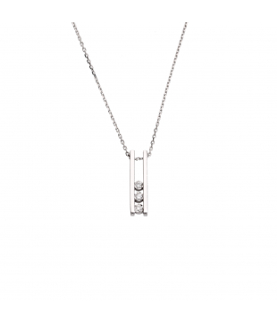 Collier Trilogie Or Blanc 9...